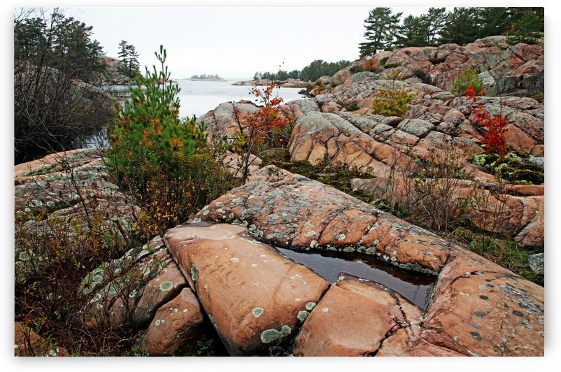 Pink Granite Shore by Deb Oppermann