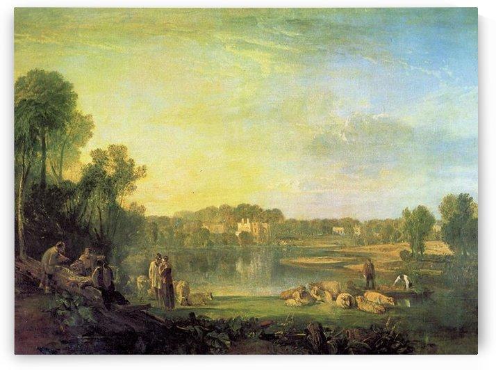 Popes villa at Twickenham by Joseph Mallord Turner by Joseph Mallord Turner