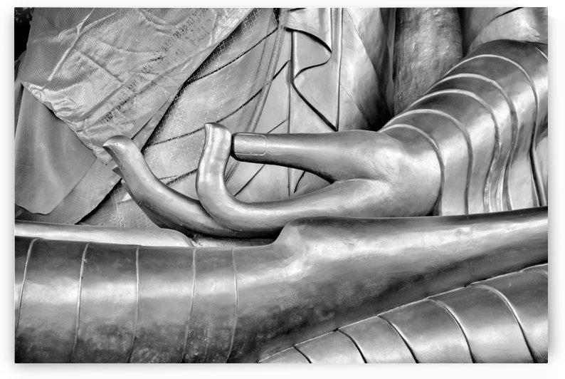 Silver Buddha Lotus Pose by Leah McPhail