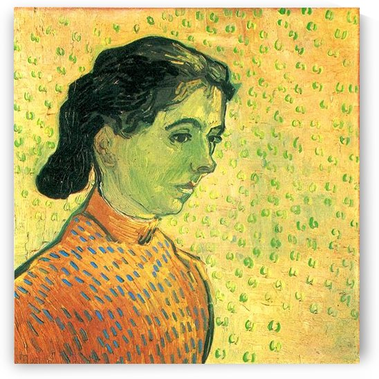 Portrait of a girl by Van Gogh by Van Gogh