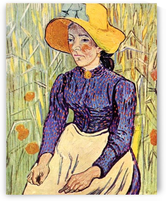 Portrait of a young peasant girl by Van Gogh by Van Gogh