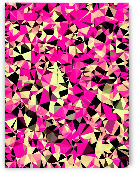 geometric triangle pattern abstract in pink and black by TimmyLA