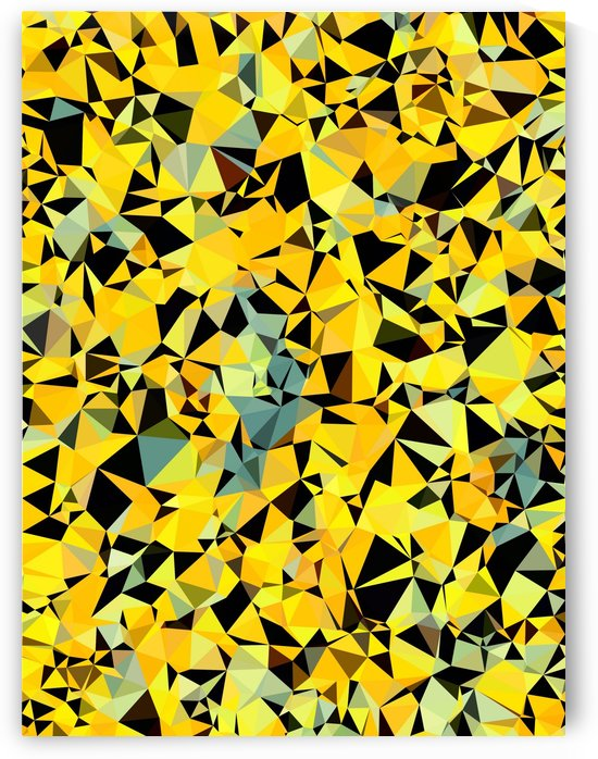 geometric triangle pattern abstract in yellow green black by TimmyLA