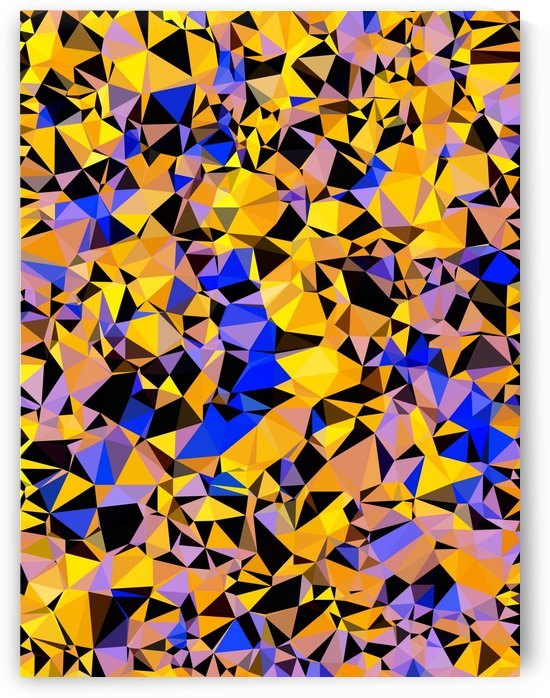 geometric triangle pattern abstract in orange blue yellow by TimmyLA