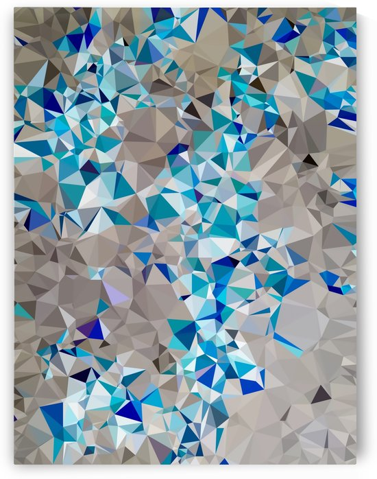 geometric triangle pattern abstract in blue and black by TimmyLA