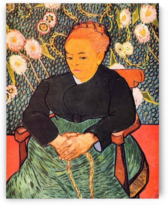 Portrait of Augustine Roulin (La Berceuse by Van Gogh by Van Gogh