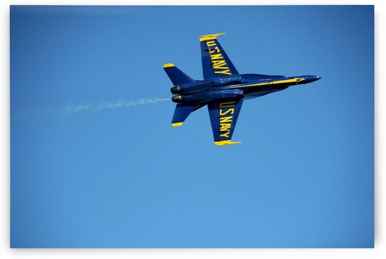 Single USN Blue Angel Flying by Deb Colombo