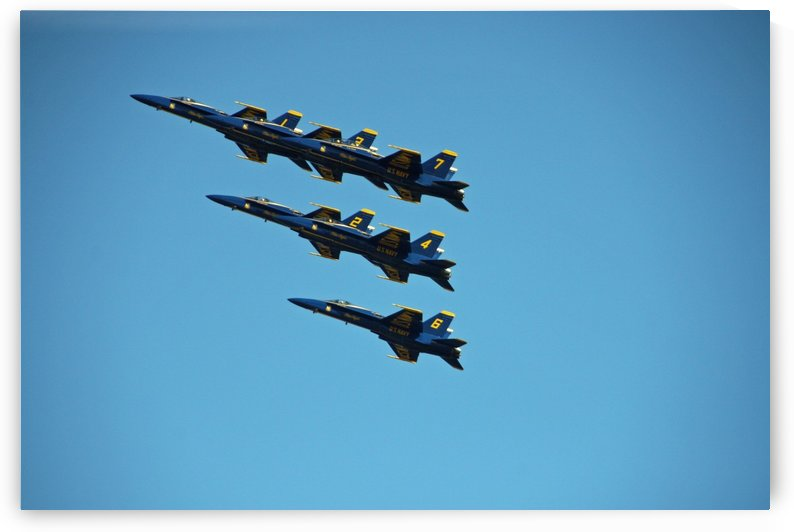 USN Blue Angels Formation by Deb Colombo