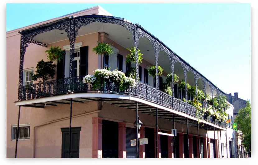 New Orleans Balcony by Deb Colombo