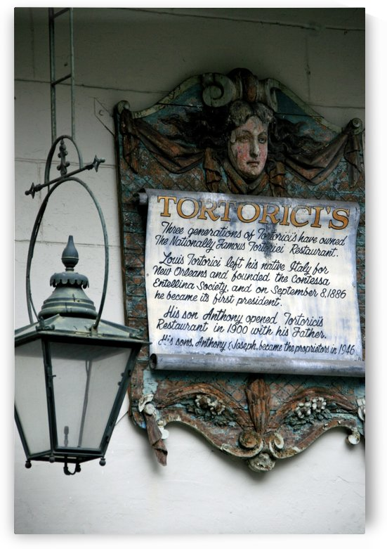 New Orleans Tortoricis Sign by Deb Colombo