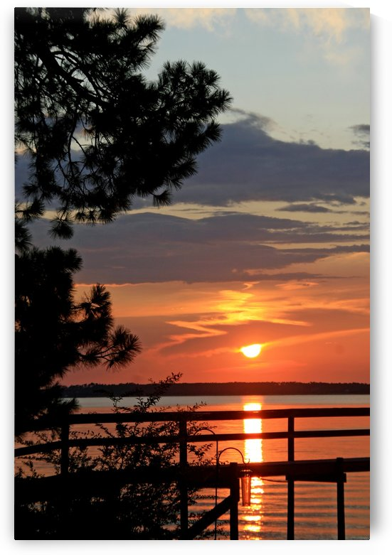 Sunset Reflection at the Dock by Deb Colombo