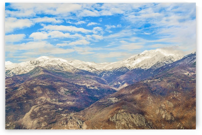 Alpes Mountains Aerial View Piamonte District Italy by Daniel Ferreia Leites Ciccarino