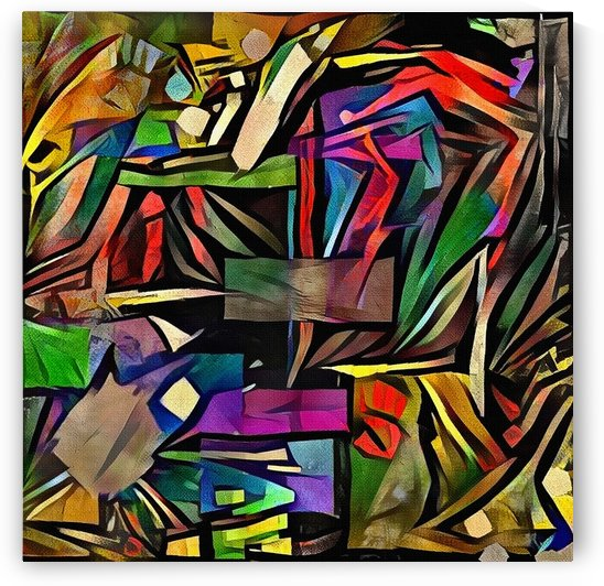 Colorful Geometric Abstract by Bruce Rolff