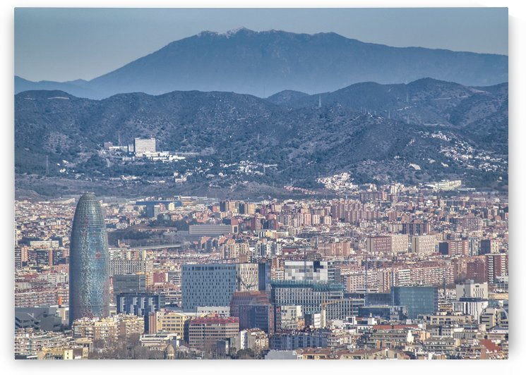 Aerial View of Barcelona City From Montjuic Park by Daniel Ferreia Leites Ciccarino