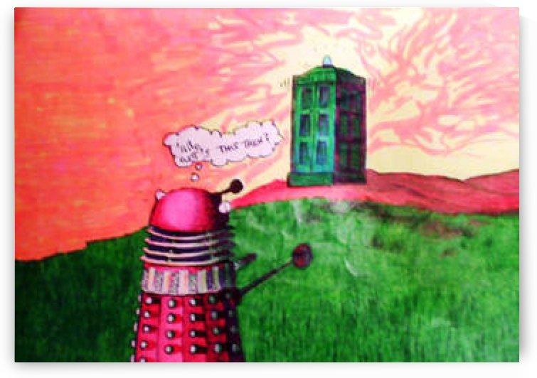 Dalek Cartoon by John Baroque