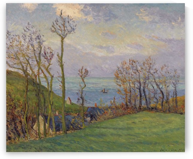 The Narrow Gully, Vaucottes-Sur-Mer by Maxime Maufra