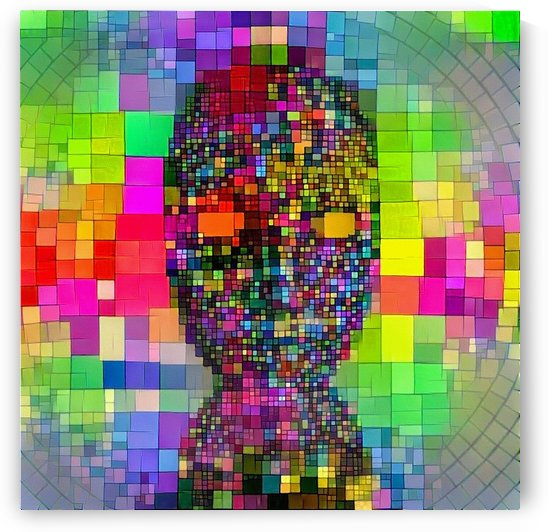 Mysterious Colorful Mask by Bruce Rolff