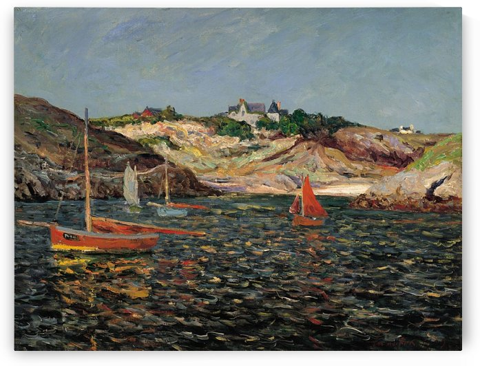 The Port of Goulphar, Belle-Ile-en-Mer by Maxime Maufra