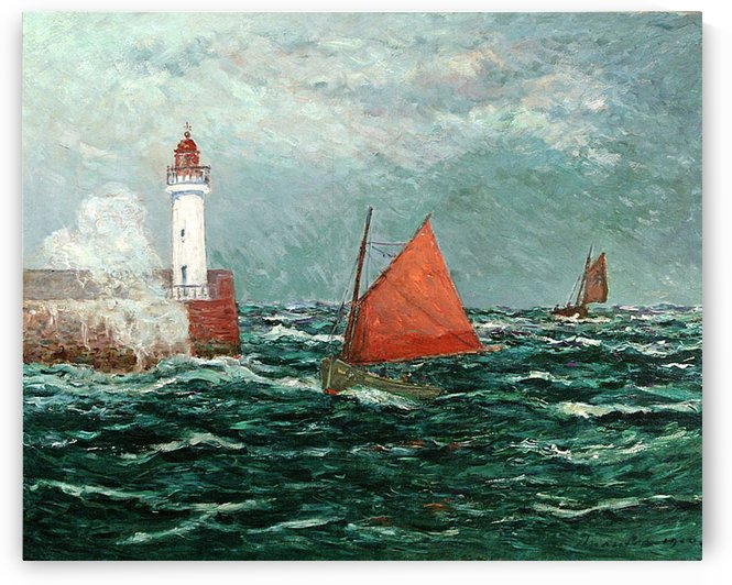 Fishing Boat at the Sea by Maxime Maufra