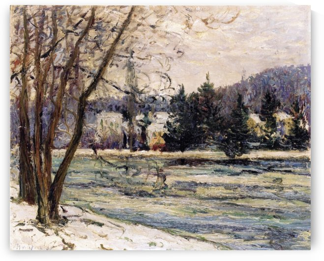 The Ice on Pond of Avray by Maxime Maufra