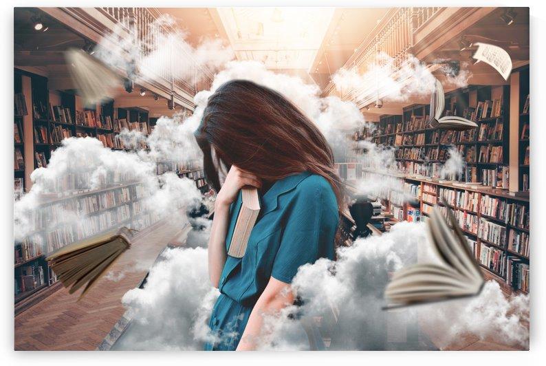 nose in book head in clouds by design4u