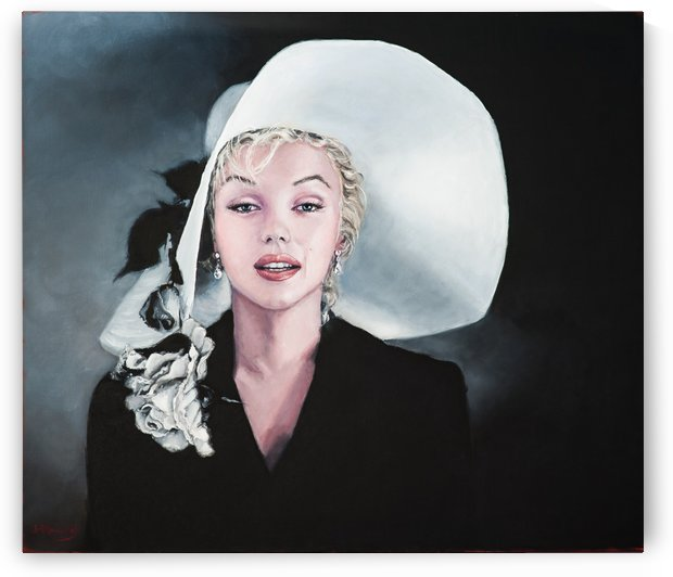 Marilyn with white hat by Jocelyne maucotel