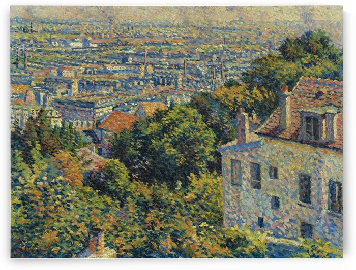 Montmartre, Cortot Street, View on Saint-Denis by Maximilien Luce