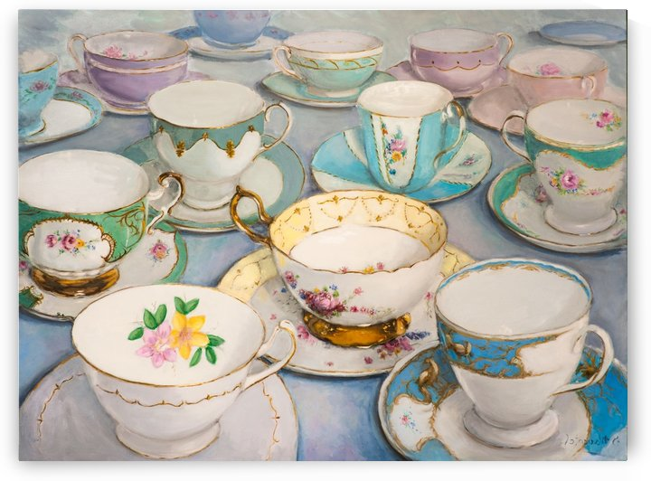 Vintage tea cups 3622x4022  by Jocelyne maucotel