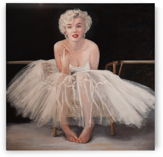 Marilyn in white ballet dress 1 by Jocelyne maucotel