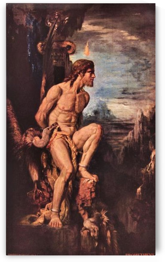 Prometheus by  Gustave Moreau by Gustave Moreau