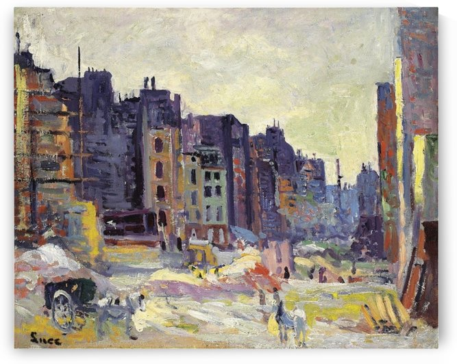 Digging at the Reaumur Street by Maximilien Luce