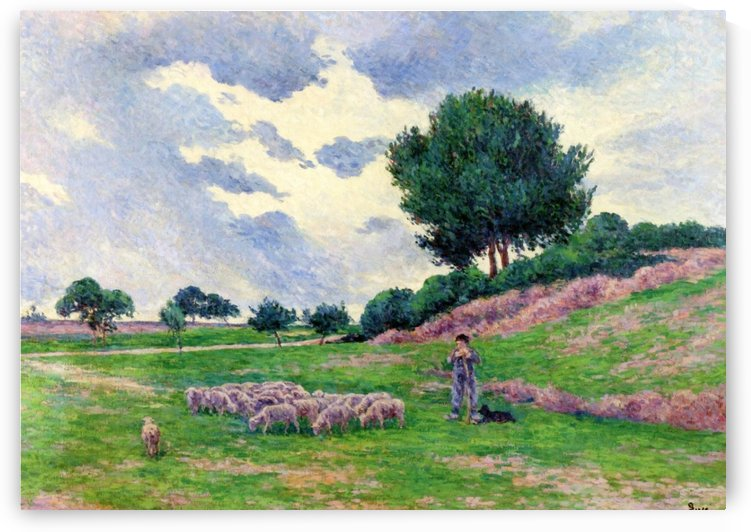 Mereville, Flock of Lambs by Maximilien Luce