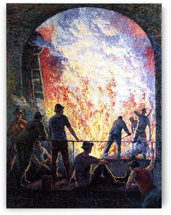 Scaffolds Raising by Maximilien Luce