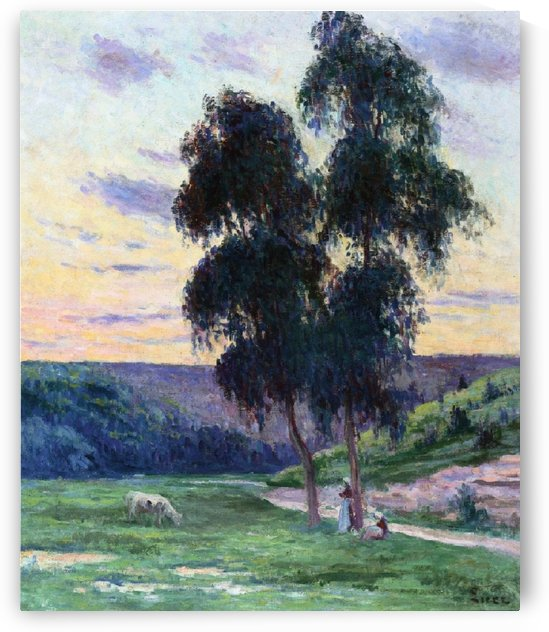 Landscape near the Bessy-sur-Cure by Maximilien Luce