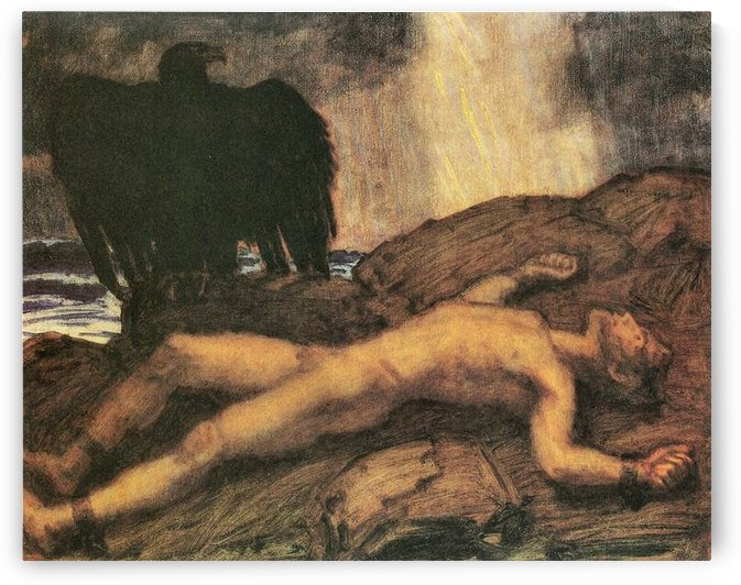 Prometheus by Franz von Stuck by Franz von Stuck