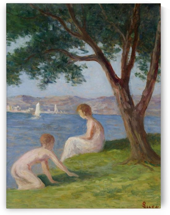 Bathers at Saint-Tropez by Maximilien Luce