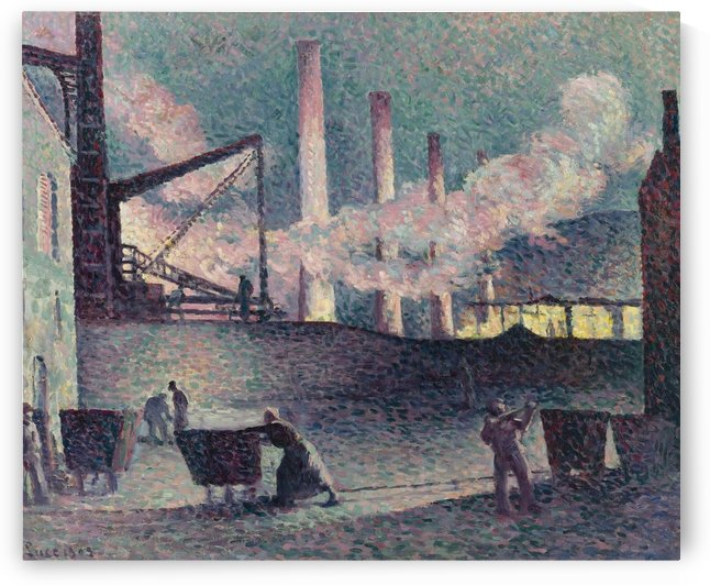 Works Furnaces at Couillet by Maximilien Luce