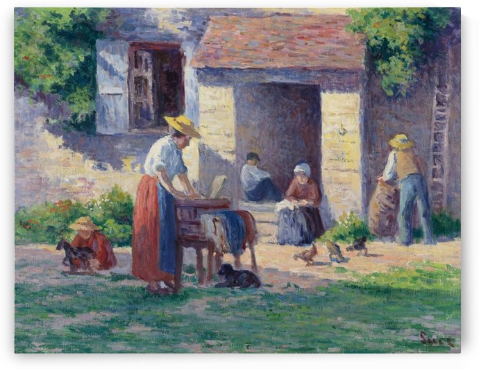 The Farm at Bessy-sur-Cure by Maximilien Luce