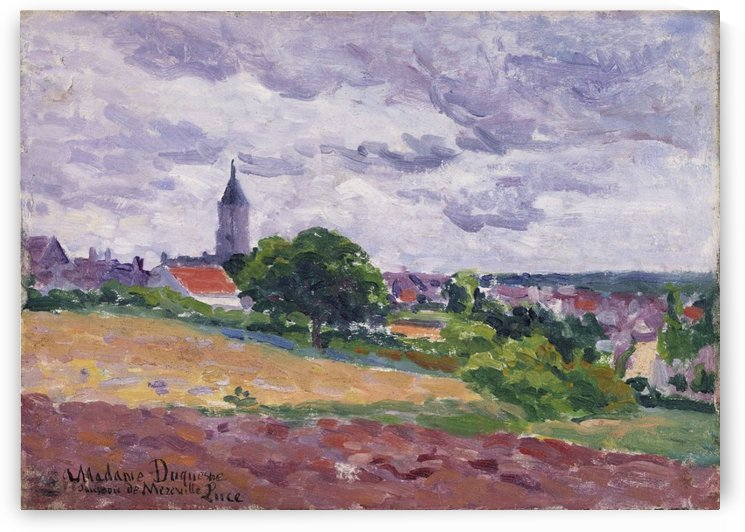 View of Mereville by Maximilien Luce