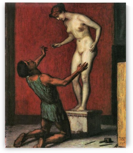 Pygmalion by Franz von Stuck by Franz von Stuck