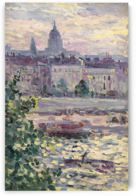 Paris, Boards of the Seine, the House of Invalids by Maximilien Luce