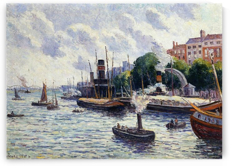Rouen, the Port by Maximilien Luce