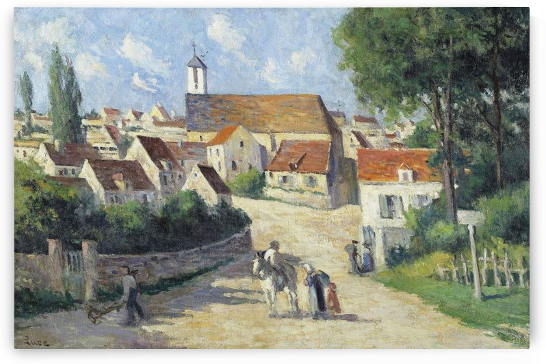 Guernes, Village Street by Maximilien Luce