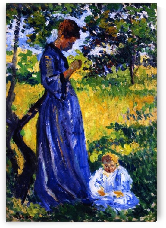 Poissy, Madame Dillon by Maximilien Luce
