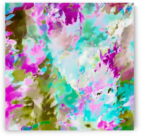 painting texture abstract background in blue pink green by TimmyLA