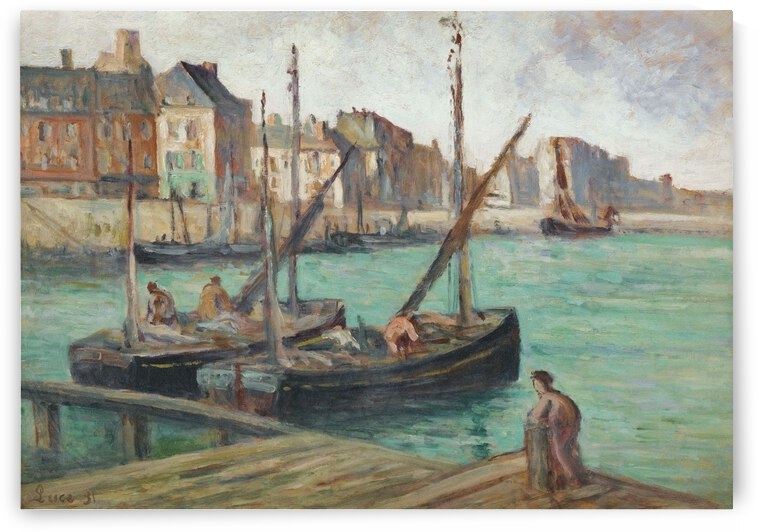 Sailing Boats near the Moorage by Maximilien Luce