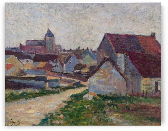 The Village Conche-Sur-Condoires by Maximilien Luce