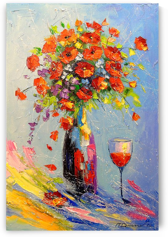 Holiday with a bouquet by Olha Darchuk
