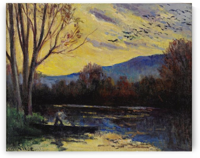 Moulineux, Sunset over the Etang by Maximilien Luce