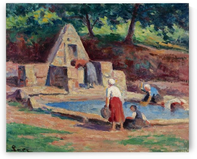 Kermouster, the Laundresses by Maximilien Luce